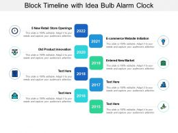 Block Timeline With Idea Bulb Alarm Clock