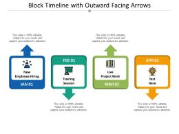 Block Timeline With Outward Facing Arrows
