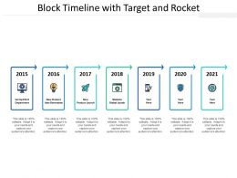 Block Timeline With Target And Rocket