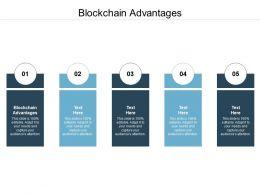 Blockchain Advantages Ppt Powerpoint Presentation Icon Microsoft Cpb