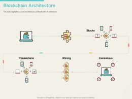 Blockchain Architecture Highlights Ppt Powerpoint Visual Aids Infographics