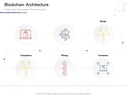 Blockchain Architecture N522 Powerpoint Presentation Elements