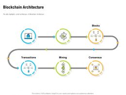 Blockchain Architecture Transactions Ppt Powerpoint Presentation Introduction