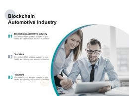 Blockchain Automotive Industry Ppt Powerpoint Presentation Icon Graphics Pictures Cpb