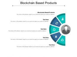 Blockchain Based Products Ppt Powerpoint Presentation Slides Example Cpb