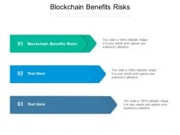 Blockchain Benefits Risks Ppt Powerpoint Presentation Layouts Template Cpb