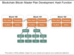 Blockchain Bitcoin Master Plan Development Hash Function
