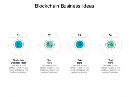 Blockchain Business Ideas Ppt Powerpoint Presentation Visual Aids Example Cpb
