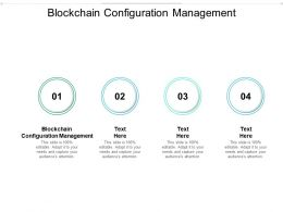 Blockchain Configuration Management Ppt Powerpoint Presentation Files Cpb