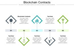 Blockchain Contracts Ppt Powerpoint Presentation Gallery Visuals Cpb