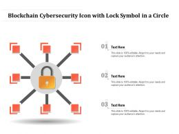 Blockchain Cybersecurity Icon With Lock Symbol In A Circle