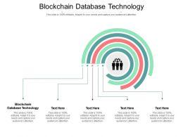 Blockchain Database Technology Ppt Powerpoint Presentation Outline Templates Cpb