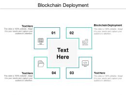 Blockchain Deployment Ppt Powerpoint Presentation Gallery Portrait Cpb