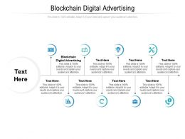 Blockchain Digital Advertising Ppt Powerpoint Presentation Icon Good Cpb