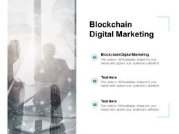 Blockchain Digital Marketing Ppt Powerpoint Presentation Infographics File Formats Cpb