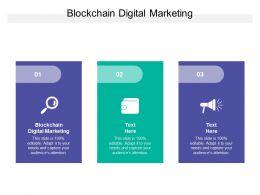 Blockchain Digital Marketing Ppt Powerpoint Presentation Model Template Cpb