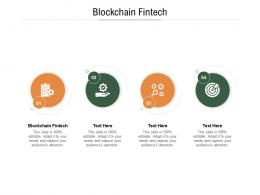 Blockchain Fintech Ppt Powerpoint Presentation Infographic Template Objects Cpb