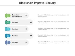 Blockchain Improve Security Ppt Powerpoint Presentation Slides Images Cpb