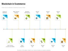 Blockchain In Ecommerce Better Payment Ppt Powerpoint Presentation Information