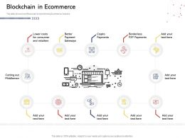 Blockchain In Ecommerce N524 Powerpoint Presentation Slides