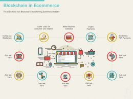 Blockchain In Ecommerce Out Ppt Powerpoint Presentation Outline Slides