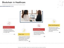 Blockchain In Healthcare N526 Powerpoint Presentation Show