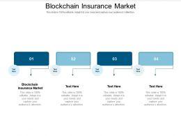Blockchain Insurance Market Ppt Powerpoint Presentation Portfolio Graphics Tutorials Cpb