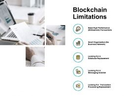 Blockchain Limitations Database Storage Ppt Powerpoint Presentation Outline Skills