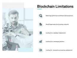 Blockchain Limitations Solution Processing Ppt Powerpoint Presentation Show Deck