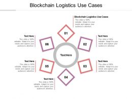 Blockchain Logistics Use Cases Ppt Powerpoint Presentation Styles Microsoft Cpb