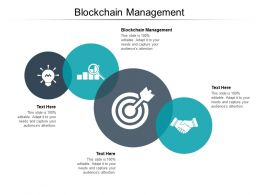Blockchain Management Ppt Powerpoint Presentation Layouts Deck Cpb