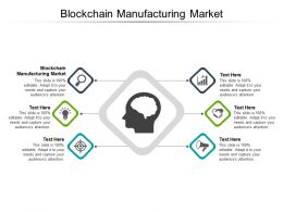 Blockchain Manufacturing Market Ppt Powerpoint Presentation File Images Cpb