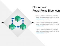 Blockchain Powerpoint Slide Icon