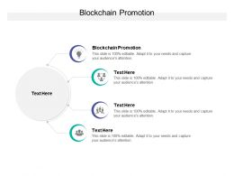 Blockchain Promotion Ppt Powerpoint Presentation Icon Clipart Cpb