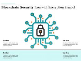 Blockchain Security Icon With Encryption Symbol