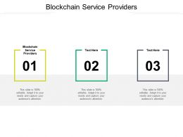Blockchain Service Providers Ppt Powerpoint Presentation Styles File Formats Cpb