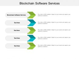 Blockchain Software Services Ppt Powerpoint Presentation Model Clipart Images Cpb