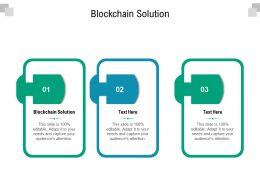 Blockchain Solution Ppt Powerpoint Presentation Clipart Cpb