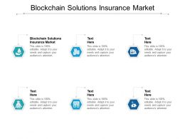 Blockchain Solutions Insurance Market Ppt Powerpoint Presentation Portfolio Professional Cpb