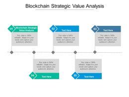 Blockchain Strategic Value Analysis Ppt Powerpoint Presentation Background Cpb