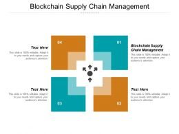 Blockchain Supply Chain Management Ppt Powerpoint Presentation Gallery Ideas Cpb