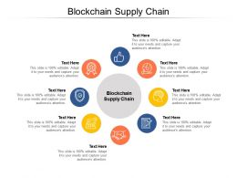 Blockchain Supply Chain Ppt Powerpoint Presentation Ideas Graphics Design Cpb