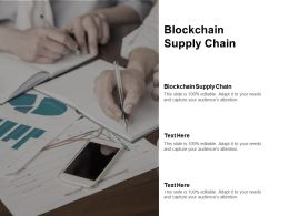 Blockchain Supply Chain Ppt Powerpoint Presentation Pictures Topics Cpb