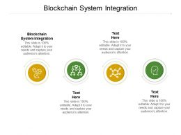 Blockchain System Integration Ppt Powerpoint Presentation Styles Influencers Cpb