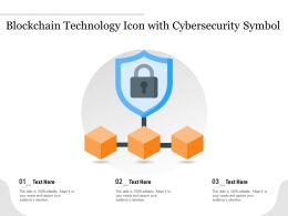 Blockchain Technology Icon With Cybersecurity Symbol