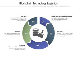 Blockchain Technology Logistics Ppt Powerpoint Presentation Inspiration Cpb