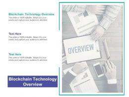 Blockchain Technology Overview Ppt Powerpoint Presentation Professional Cpb