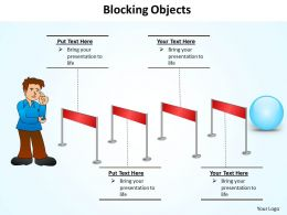 blocking objects hurdles to overcome jump track powerpoint diagram templates graphics 712