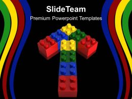 Blocks Building Powerpoint Templates Lego Arrow Metaphor Strategy Ppt Layout