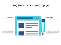 Blog Editable Icons With Webpage